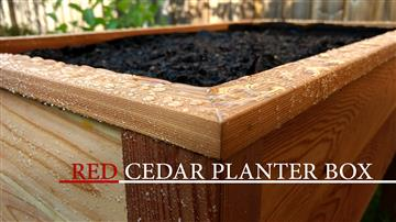 RED CEDAR PLANTER BOX