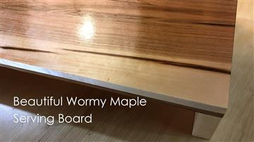 Beautiful Wormy Maple Serving Board