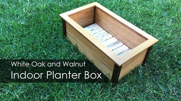 White Oak and Walnut Indoor Planter Box