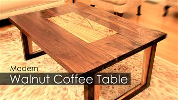 Modern Walnut Coffee Table