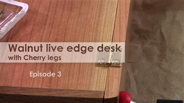Walnut live edge desk with Cherry legs - Episode 3