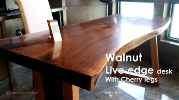 Walnut live edge desk with Cherry legs - Final Episode